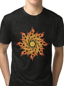 Share Favorite Psychedelic fire ornament sun 2 Tri-blend T-Shirt