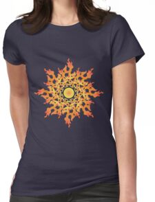 Share Favorite Psychedelic fire ornament sun 2 Womens Fitted T-Shirt