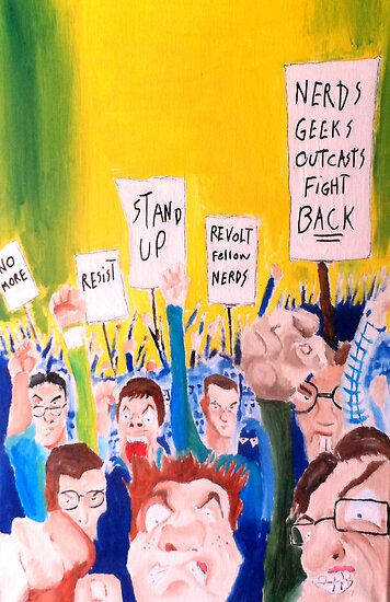 When all the geeks riot by Justin Valdivia