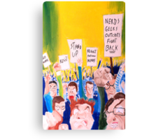 When all the geeks riot Canvas Print