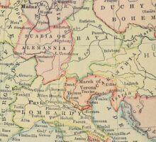 Modern history; Europe map Sticker