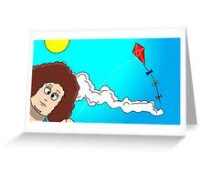 I TEMPI DELLE VACCHE GRASSE (The kite) Greeting Card