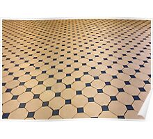 old tiled floor Poster