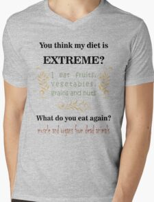 Extreme Diet Mens V-Neck T-Shirt