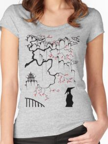Geisha in the shadows Women's Fitted Scoop T-Shirt