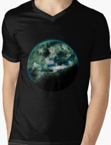 Planet Earth Mens V-Neck T-Shirt