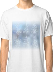 Doodle Christmas trees Classic T-Shirt