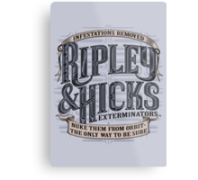 Ripley & Hicks Exterminators Metal Print