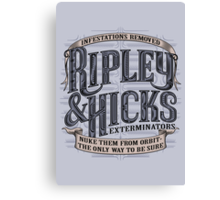 Ripley & Hicks Exterminators Canvas Print
