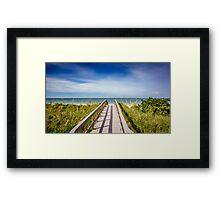 Board Walking a Treasure Island Beach Get Away Framed Print