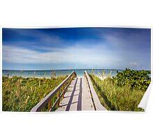 Board Walking a Treasure Island Beach Get Away Poster