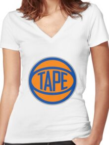 Tape Women's Fitted V-Neck T-Shirt
