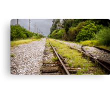 Standing By Me a Railroad Adventure Canvas Print