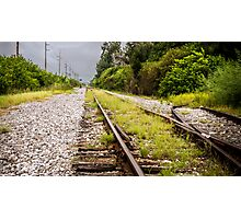 Standing By Me a Railroad Adventure Photographic Print