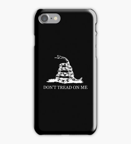 Gadsden Flag - Black and White iPhone Case/Skin