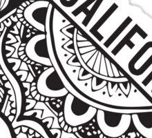 California Zentangle Sticker