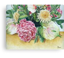 Flower Watercolours Canvas Print