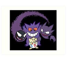 The Ghostly Trio Art Print
