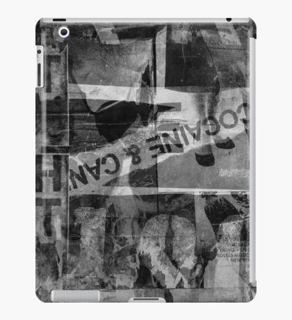 Urban Street Art (graffiti) Collage Black & White iPad Case/Skin