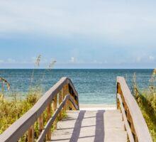Board Walking a Treasure Island Beach Get Away Sticker