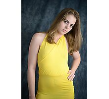 Yellow dress Photographic Print