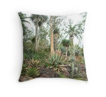 Cactus plants at the Huntington Library. Throw Pillow