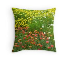 Flower fields at the Huntington Library. Throw Pillow