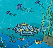 Nautilus under the sea by danielasynner