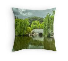Japanese Garden at the Huntington Library. Throw Pillow