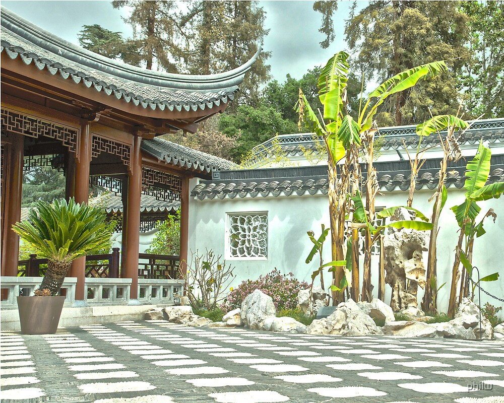 Japanese court yard at the Huntington Library. by philw