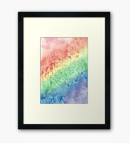 The Rainbow's Stardrops Roll Framed Print