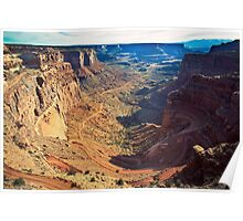 Canyon Country Curves Poster