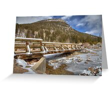 Alluvial Fan Trail walkway Greeting Card