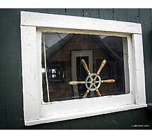 Boathouse Window Photographic Print