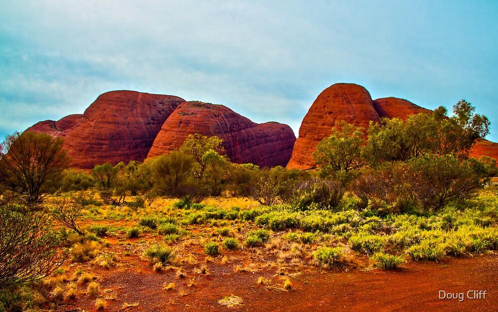 The Olgas, Ayers Rock Australia by Doug Cliff
