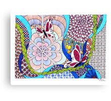 Tangle With Me Doodle Canvas Print