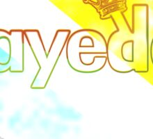 Playered Tye Dye Rugby Sticker