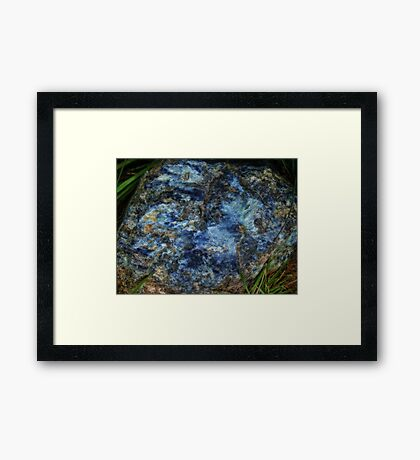 Blue Rock Framed Print