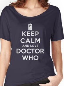 Keep Calm and Love Doctor Who (Dark Colors) Women's Relaxed Fit T-Shirt