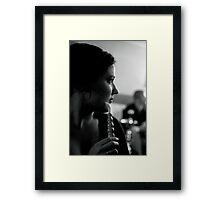 Salem, Black and White Framed Print