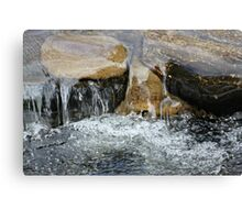 Rocks with water fall Canvas Print