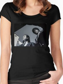 Jules and Vincent Women's Fitted Scoop T-Shirt