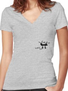 Chinook - Helicopter Women's Fitted V-Neck T-Shirt