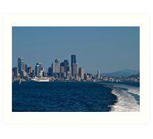 Nautical Seattle Art Print
