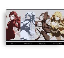 Red, White, Black, Yellow - RWBY Canvas Print
