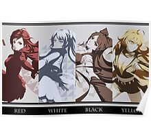 Red, White, Black, Yellow - RWBY Poster