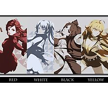 Red, White, Black, Yellow - RWBY Photographic Print