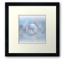 Snow globe with map Framed Print