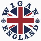 Wigan Vintage Style British Flag by FlagCity