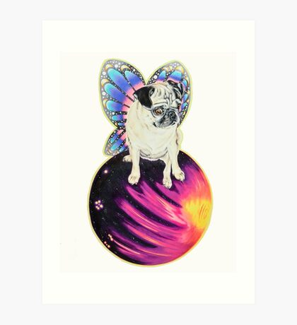Puggerfly In Space Art Print